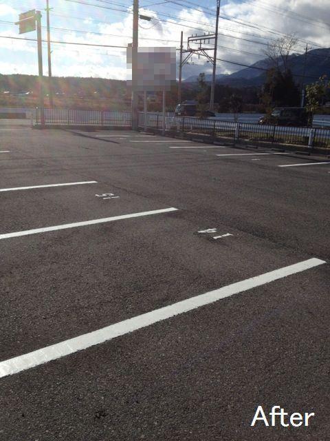四日市市 マンション改修工事 駐車場ライン引き、その他